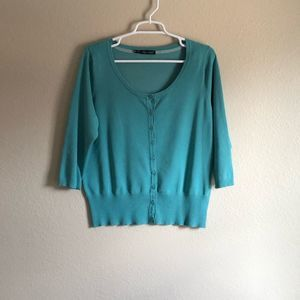Maurices size 12/14 turquoise cardigan
